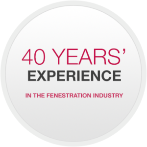 40 years' experience in the fenestration industry