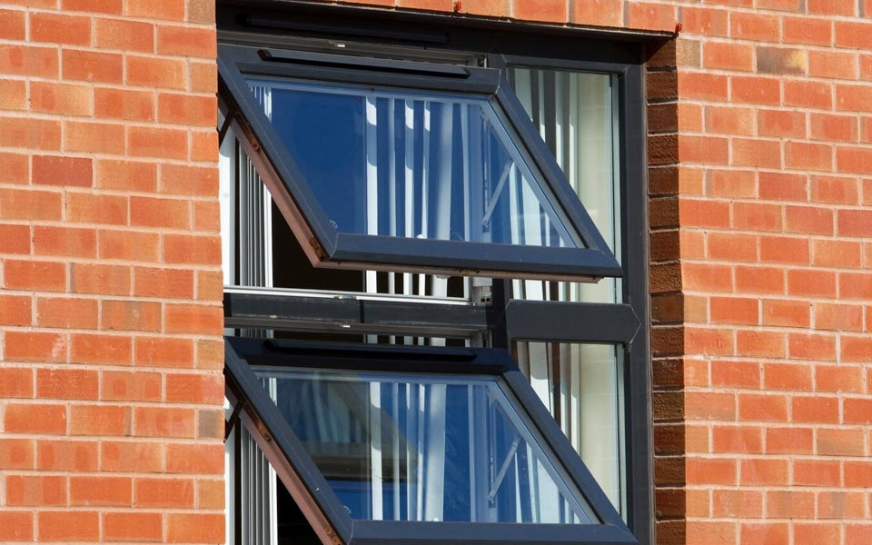 uPVC windows with slim sightlines perfect for commercial application