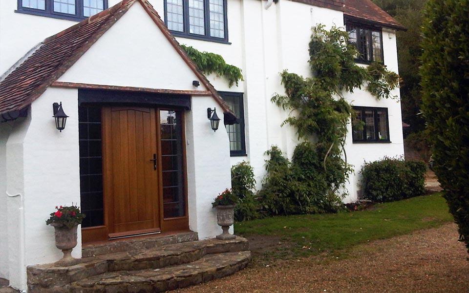 Wood residential door