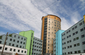 City gate student accommodation building in Southampton