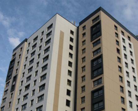 Hulme and Nolan Court apartments for which Dempsey supplied uPVC windows