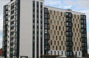 Kennedy Gardens apartment blocks in Billingham for which Dempsey Dyer supplied uPVC tilt and turn windows