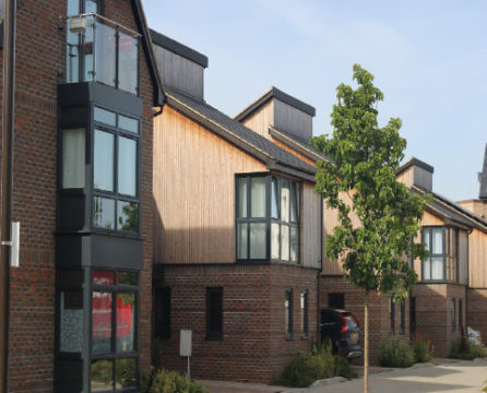 Oakgrove Housing in Milton Keynes for which Dempsey Dyer supplied uPVC windows